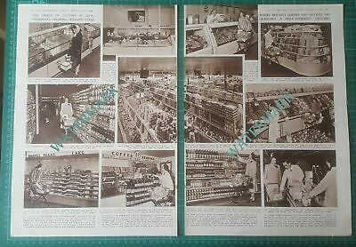 XX147) New Style Grocery Shopping A&P Supermarkets America - 1948 Article