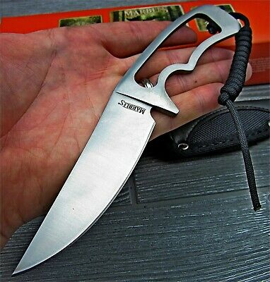 Marble's Stainless Steel Skeletonized Fixed Blade Hunter Skinner Knife w/ Sheath