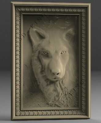 STL 3D Models # THE WOLF # for CNC 3D Printer Engraver Carving ASPIRE