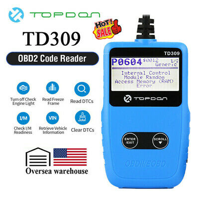 OBD2 CAN OBDII Scanner Auto Car Code Reader Diagnostic Scan Tool As Autel AL319