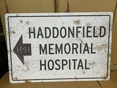 Michael Myers Halloween II Haddonfield Memorial Hospital Aluminum Sign