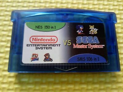 150 NES + 106 SMS Games in 1 Gameboy Advance Multicart Collection GBA Cartridge