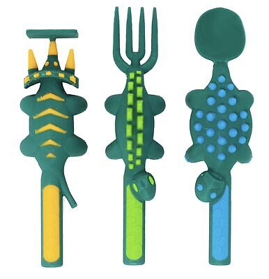 Dinosaur Toddler & Baby Utensils for Kids Cutlery Set by Constructive Eating