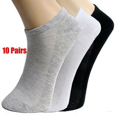 10Pairs Men Ankle Socks Summer Low Cut Crew Casual Sport Cotton Blend Socks Soft