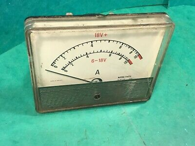 Car dashboard volts gauge ? 6-18V Made in England NP/B/71171 Classic car part