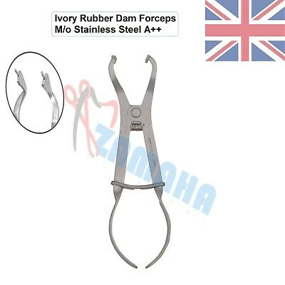 Rubber dam Forceps Ivory Clamp forceps Restorative dental Instruments Zamaha UK