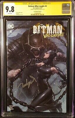 Batman Who Laughs #4 Cgc Ss 9.8 Jeehyung Lee Catwoman Grim Knight Arkham Joker