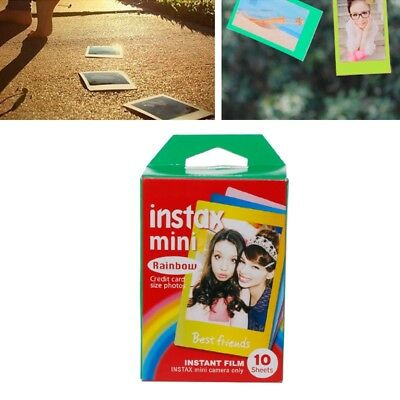 10 Sheets Rainbow Lace Instant Photo Paper Mini7 8 25 70 Polaroid Camera Film