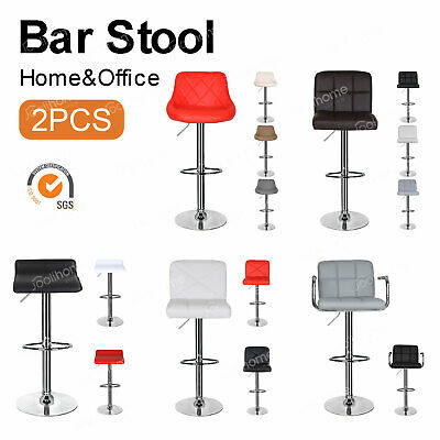 Bar Stools Set of 2 Adjustable Bar Chairs Swivel Kitchen Stool with Footrest