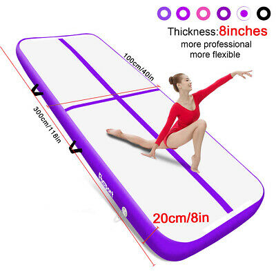 10ft 16ft 20ft Air Track Inflatable Gymnastics Tumbling Mat Home Floor with Pump