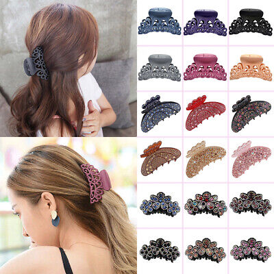 Ladies Womens Large Hair Clips Claw Barrette Crab Clamp Hollow Hair Accessories
