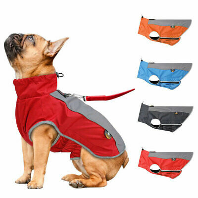Dog Winter Coat Waterproof Pet Reflective Fleece Clothes Jacket French Bulldog