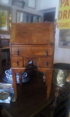 Beautiful Antique Edwardian  Walnut & Oak Children's Bureau Desk