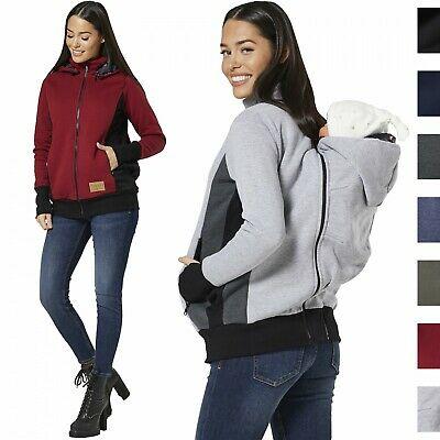 HAPPY MAMA Women's Maternity 3 in 1 Hoodie Carrier Baby Holder Pullover 1062