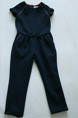 Ted Baker Girls Navy Blue Jumpsuit for Age 4-5