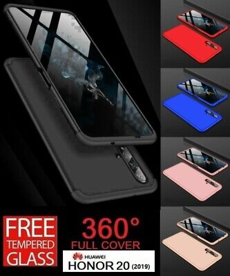 For Huawei Honor 20 2019 360° Full Protective Hybrid Case + Tempered Glass Cover