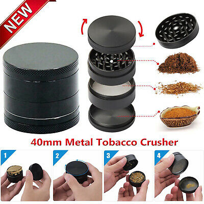 HOT SALE 4 Layer Metal Tobacco Crusher Smoke Herbal Herb Grinder Hand Muller NEW