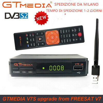 Original FTA GTMEDIA V7S+Wifi DVB-S2 Satellite Receiver Digital Full HD 1080P