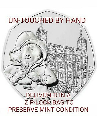 PADDINGTON BEAR 2019 50p TOWER OF LONDON COIN UNCIRCULATED FROM BAG UNTOUCHED