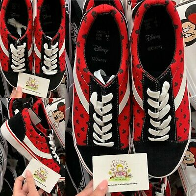 Ladies DISNEY Mickey Mouse Primark Casual Trainers Black Red White Women Gift