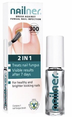 NAILNER Brush Nail Fungus Anti Fungal Infection Treatment 5ml 2 IN 1 New Free UK