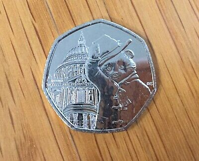 2019 Paddington Bear at St Paul's Cathedral 50p Coin (uncirculated)