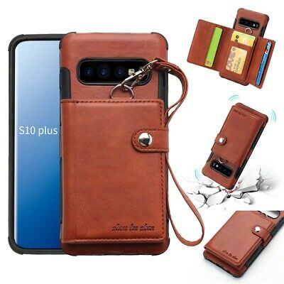 Leather Wallet Buckle Strap Card Slot Case For Samsung Galaxy S10 Plus S9 Note 9