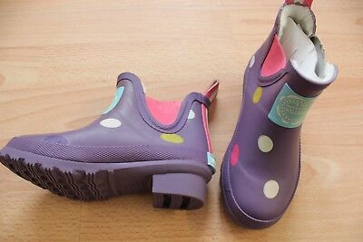 Joules purple wellibob  wellies size 10 NEW