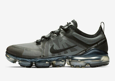 Nike Air VaporMax 2019 AR6631-004 Triple Ghost Black Men's Running Shoes NEW!