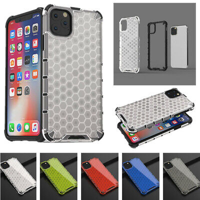 Hybrid Soft Bumper Honeycomb Case Cover For iPhone 11 Pro Max Xs 7 8 Plus XR 6s