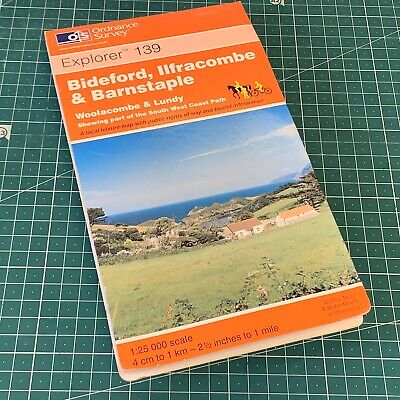 2002 Landranger 180 Edition 8 Barnstaple & Ilfracombe Ordnance Survey Map