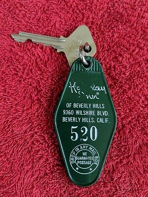 Vintage Hotel Key & Fob Holiday Inn Beverly Hills 9360 Wilshire Blvd California