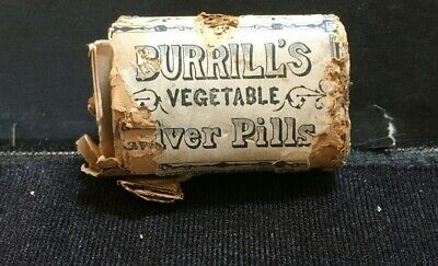 Antique Quack Medicine: Burrill's Vegetable Liver Pills Package Full Contents
