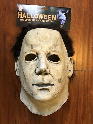 🎃 THE CURSE OF MICHAEL MYERS Trick or Treat Studios Latex Deluxe Mask 🎃