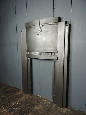 Early 20th Century Art Deco Cast Iron Fireplace - 2 Available (HB 315)