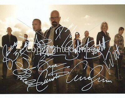 Breaking Bad Cast: 8.5x11 Signed Autographed Reprint RP Photo Print Picture