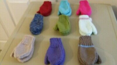 Hand Knitted toddler Childrens   Mittens  age 2-3 years