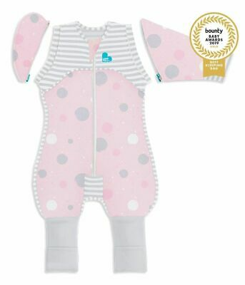 Love To Dream Swaddle Up Lite 0.2 Tog Cotton Transition Suit Pink 2 Sizes