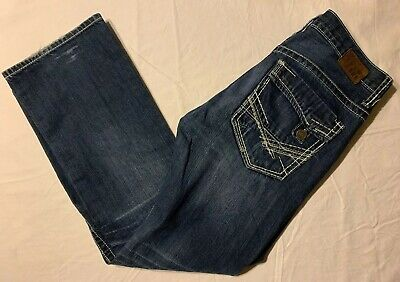 BKE Buckle Jeans Carter Straight Size 31R Men's Actual Size 34x31