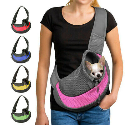 Small Dog Pet Cat Carrier Sling Puppy Tote Single Shoulder Bag Hands Free Carry