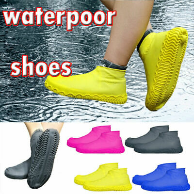 Reusable Shoe Covers Waterproof Silicone Rain Shoe Protectors Overshoes 1 Pair