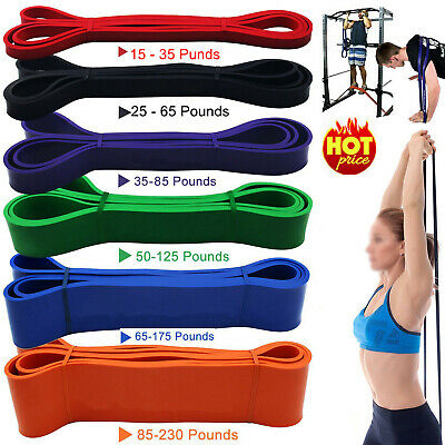 Resistance Bands Tube Workout Exercise Elastic Band Fitness Equipment Yoga UK AN