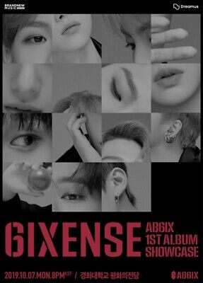 AB6IX [6IXENSE] 1st Album CD+POSTER+Photo Book+5 Card+Sticker+B.Mark+GIFT SEALED