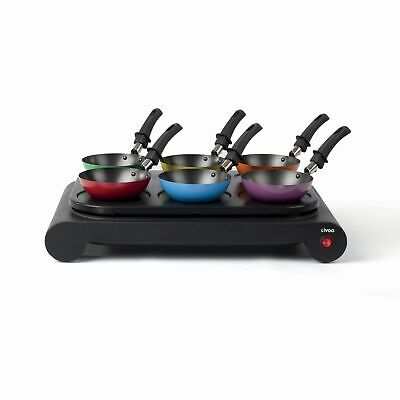 Luxus Wok Set Party Tischgrill Elektrogrill 6 Wokpfannen Crepe Maker 67400387