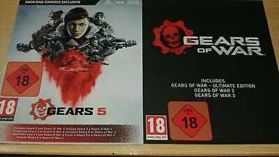 Gears Of War 5 including Ultimate Edition and Gears Of War 2, 3 and 4.