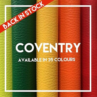 COVENTRY   PVC Leatherette   Faux Leather   Vinyl   Available in 35 Colours