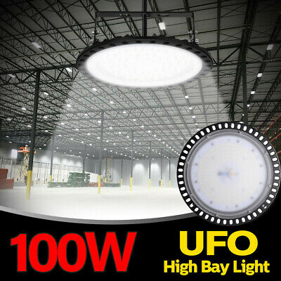 100W 6500K Led High Bay Light Lamp Lighting Warehouse Fixture Factory Industry