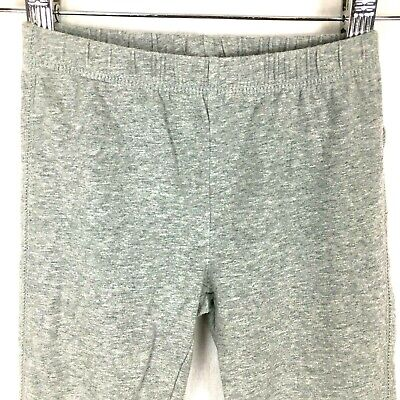 Gap Kids Girls Leggings Small S 6 - 7 Gray Elastic Pull On Lace Ankle Stretch
