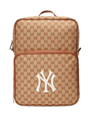 100%AUTH GUCCI BAG Medium backpack with NY Yankees™ patch RET $1500