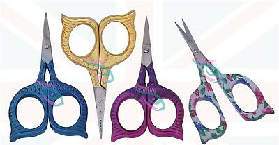 Sewing Embroidery Scissors, Tailor Stitch Scissors, Sharp points OWL Shape UK-CE